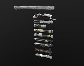 Lightsaber Pack 3D model