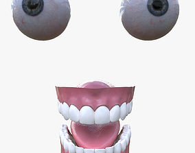 Eyes and teeth 3D asset