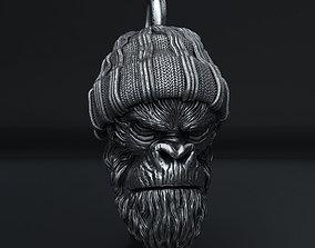 Gangster monkey vol1 Pendant jewelry 3D print model