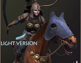 3D asset Eva Horseman Archer Light Version