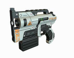 3D model low-poly Sci Fi Gun