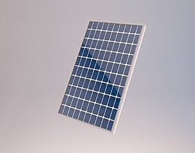 3D model low-poly Solar panels