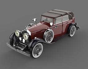 Rolls Royce Phantom II Red and Black 3D model