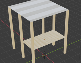 architectural 3D market stall