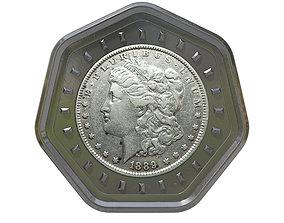 wallet 3D model Digital Currency Coin - 600 BTC