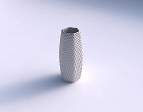 3D print model Vase hexagon with grid piramides