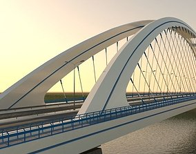 Arched bridge 3D model