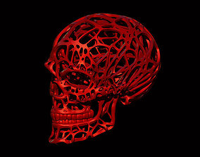 Wired Skull 3D print model head