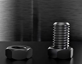 Nut Bolt M12 3D printable model