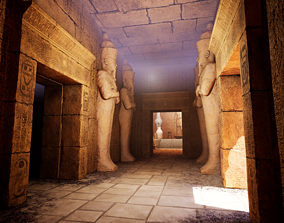 3D model Ancient egyptian environment collection