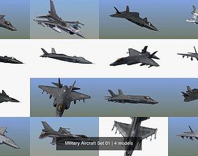 Military Aircraft Set 01 3D