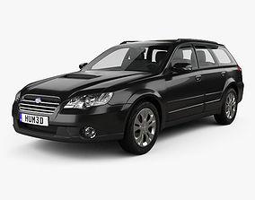 3D model Subaru Outback 2008