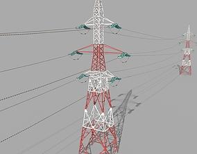 3D asset Electricity Pole 32
