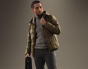 00044Skander002 Fashionable Standing Man Pre Posing 3D 1