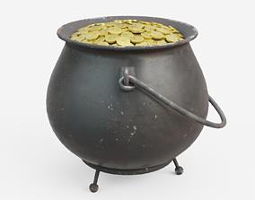 Pot of Gold 3D asset