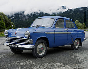 3D animated MZMA Moskvitch-403IE 1963