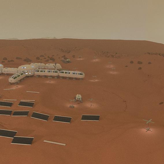 Martian colony