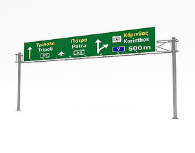 3D Traffic Sign Model 04 game-ready