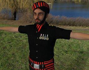 3D model VR / AR ready Indian commando