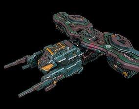Sci fi mercenary spaceship 3D model
