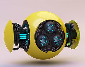 Drone Orange 3D robot