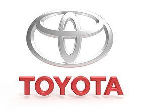 auto Toyota Logo 3D