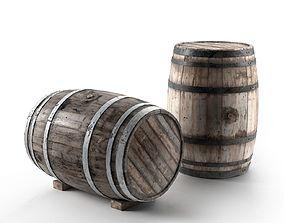 3D model Wooden Barrel models