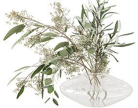 3D model flora Eucalyptus bouquet