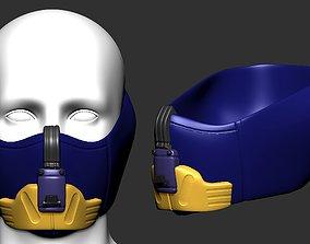 gas mask high poly sculpt 3d printable ver 6 3D model