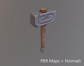 Stone Hammer - game model 3D asset