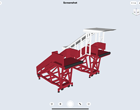 3D print model A320 stair for diorama