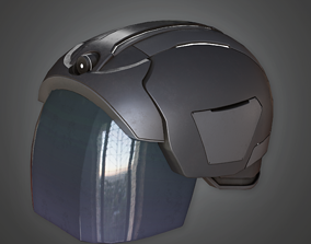 3D model HAT - Sci-fi Futuristic Helmet - PBR Game Ready