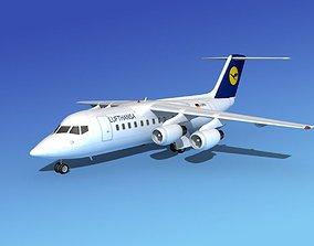 3D model BAe 146-200 Lufthansa