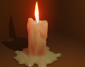 3D model Candele with flame