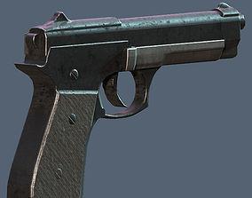 Beretta Pistol 3D asset