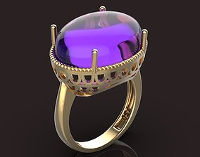 diamant oval ring 3D printable model
