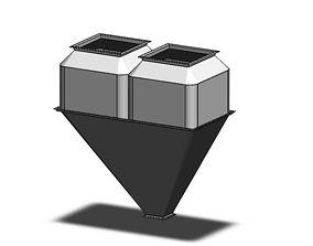 3D model charging silo