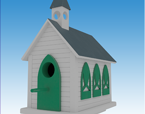 3D Church Bird House