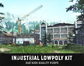 Industrial lowpoly kit 3D model