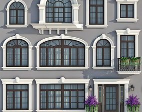 3D Windows and doors in the style of modern classics 2