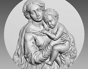 Madonna and Baby Jesus Highly Detailed 3D Bas