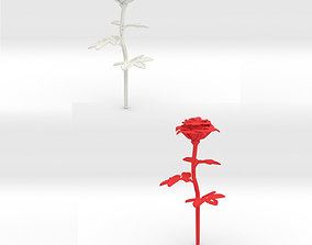 3D print model Rose single stick