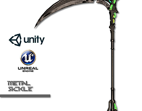 Metal Sickle 3D asset