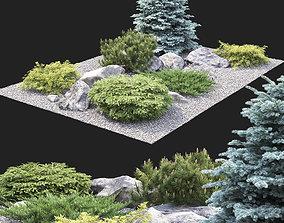 3D model Alpine hill 02
