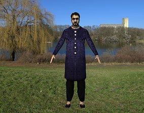Indian man traditional dress 3D asset