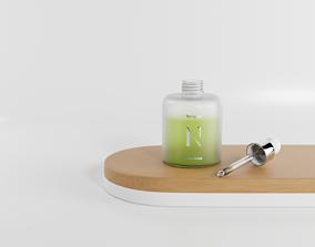 Cosmetic opaque bottle ampoule 3D asset