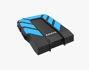 3D model External Harddisk AData HD710M Blue