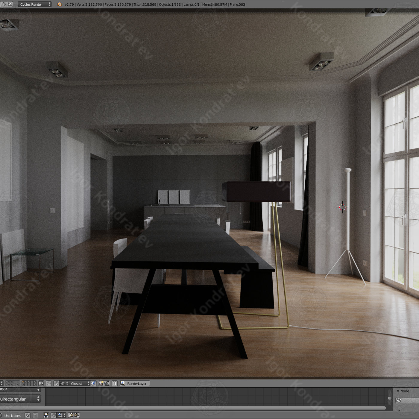 Berlin apartments 3D model and render (replica by real reference)