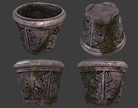 Old Garden Pot 2 3D asset