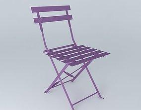purple chairs Confetti 3D model
